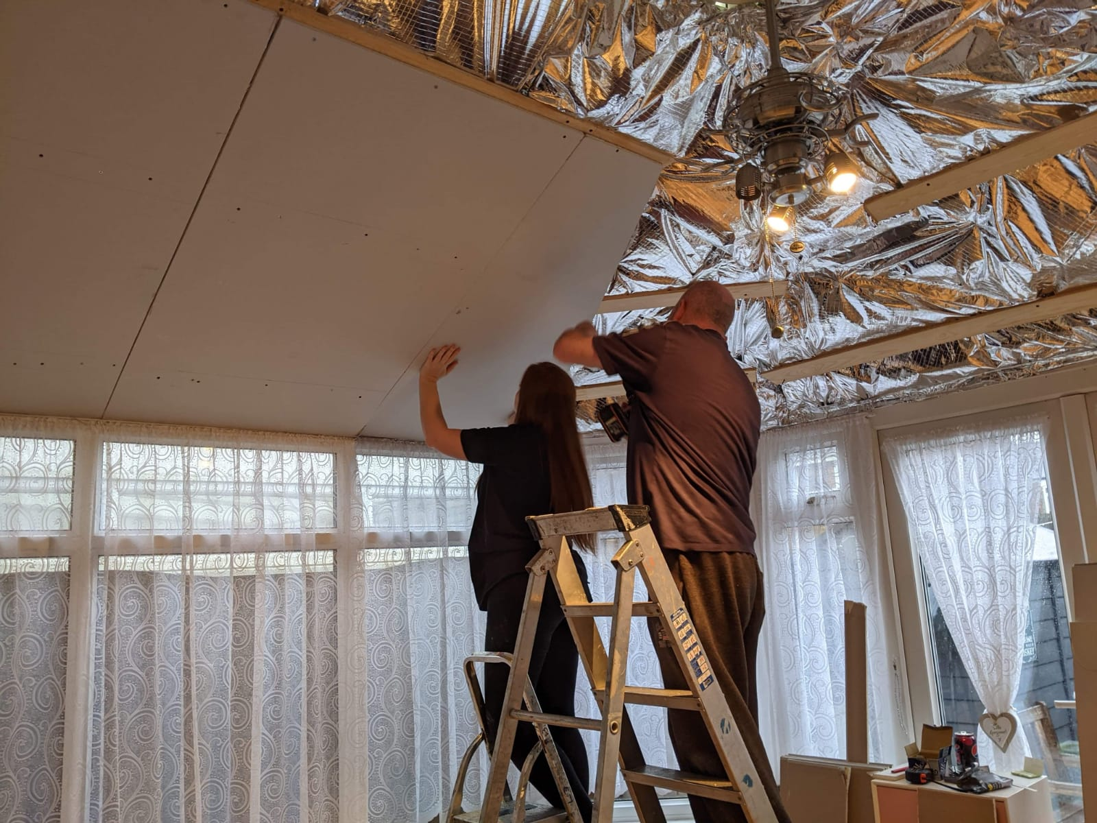 Putting up Plasterboard
