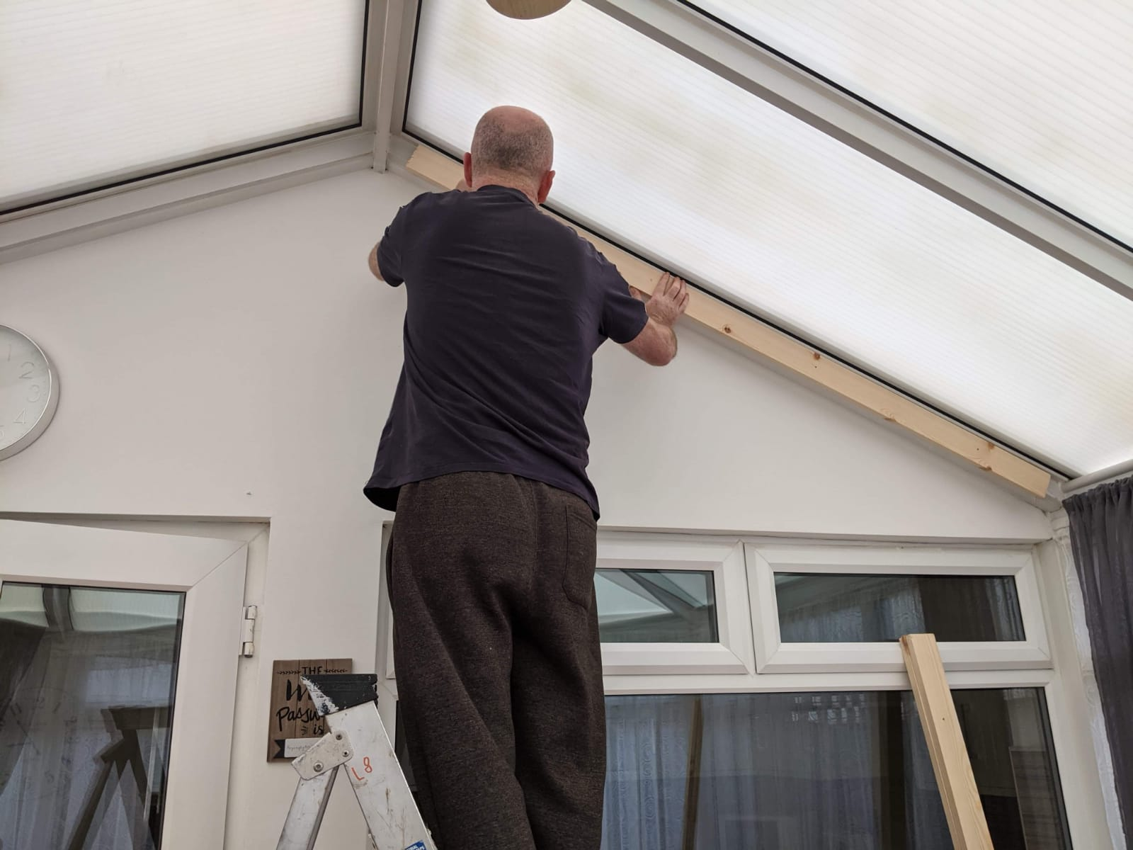 Attaching battens to Conservatory Roof